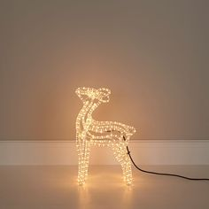 White Soft Glow Freestanding Baby Reindeer Silhouette | Departments | DIY at Bu0026Q & 1.8m Neon Flex Spiral LED Tree (White) #ukchristmasworld #barnsley ...
