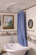 Clawfoot Tub Shower Curtain Using 6100 Flexible Track   Pat C     Parkersburg  WVOval ceiling track for a shower curtain   Shower Curtains  . Shower Curtain Clawfoot Tub Solution. Home Design Ideas