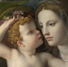 Agnolo di Cosimo (Il Bronzino) - The Madonna and Child with Saints (detail)