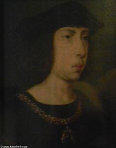 Philippe le Beau, par Pieter Von Coninxloo vers 1500-1520, Berlin - 2° phase de la 3° guerre d'Italie (suite): l'évênement le plus fâcheux fut la mort d'Alexandre VI en aout 1503. Son successeur, Pie III, ne régna que quelques jours mais Jules II, farouche adversaire des Borgia, fut élu par les cardinaux. Dans un 1° temps, le nouveau pape somma César Borgia d'abandonner les territoires dont il s'était emparé. Emprisonné par Jules II, le fils d'Alexandre VI fut livré au roi d'Espagne