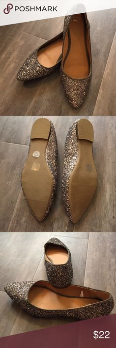 NWT GAP flats NWT GAP flats. Sz8.  Dark gray sparkly! GAP Shoes Flats & Loafers