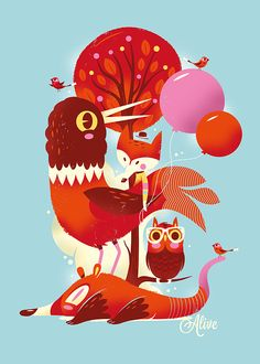 Alive Illustrations by Christian Lindemann
