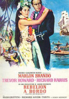 "Rebelión a bordo ""Mutiny on the Bounty"" de Lewis Milestone - Classic Movie Posters, Minimal Movie Posters, Cinema Posters, Classic Movies, Minimal Poster, Hollywood Undead, Hollywood Life, Hollywood Theme, Old Movies"