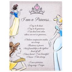 Disney Princess Poem Canvas Art | Hobby Lobby