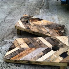 High End Corn Hole Boards / Tailgate Toss. Via Etsy. This store has a ton of custom made rustic furniture!