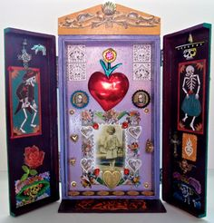Day of the Dead Retablo with doors by MORICA on Etsy, $50.00