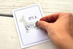 "make a scratchoff to announce whether you are having a girl or boy-- I want to make these, but instead of revealing the sex, just have it say ""child"" so everyone still gets to be surprised. MUAHAHA"