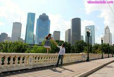 Houston skyline engagement photo shoot by xtinedanielle.com