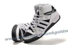 Adidas X Jeremy Scott 3 Tongue Shoes White Black 2013