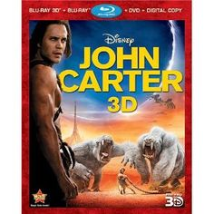 John Carter Blu-ray Giveaway worth $25.00 each. Click to Enter. #johncarter #Giveaway #Sweepstakes