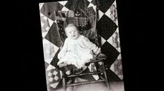 Historic photograph of a baby sitting in a chair In upcoming book by Janet E. late 2012 Collection of Janet E. Old Quilts, Antique Quilts, Vintage Quilts, Crib Quilts, Vintage Photographs, Vintage Images, Women In History, Art History, Old Pictures