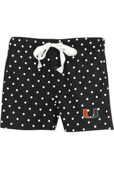 University of Miami Women's Polka Dot Flannel Short | University Of Miami