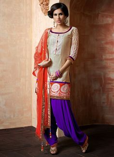 Patiala Suit trends for 2014. Love this, the color's are beautiful.
