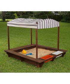 KidKraft Gray Outdoor Sandbox & Canopy | zulily