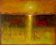 Nov 26 16X20 Abstract Landscape Texture and Emotion on Wood Panel, painting by artist Toni Grote