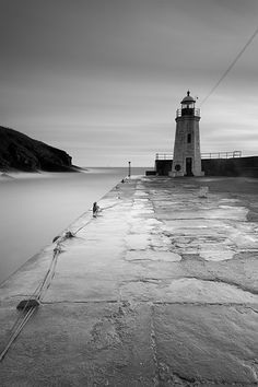Lybster Harbour in Black and White, Caithness, Scotland
