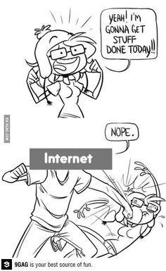 Internet always beats me