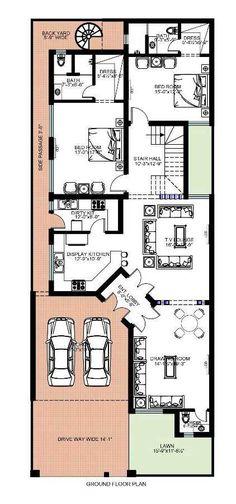 3d House Plans, Modern House Floor Plans, Indian House Plans, Model House Plan, Bungalow House Plans, Dream House Plans, Small House Plans, Home Map Design, Home Building Design