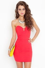 Serena Sweetheart Dress - Coral