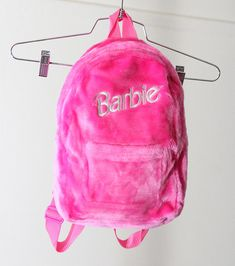 Hot Pink Faux Fur Barbie Backpack