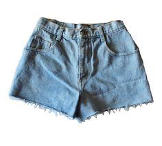Vintage 90s ESPRIT Jean Cut Off Shorts // Women Small // high waist denim, grunge era by bluebutterflyvintage on Etsy