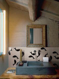 Ceramic #wall tiles MEZZA by @Ceramica Bardelli | #design Marco Ferreri #bathroom