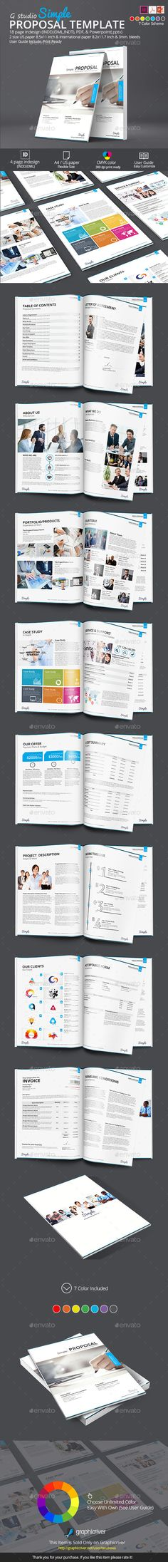 Simple Proposal Template Proposal Proposal templates