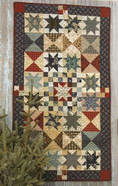 Primitive Folk Art Quilt Pattern:  UNION STAR. $8.75, via Etsy.