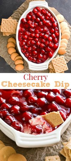 Cherry Cheesecake Dip Recipe This looks great, but find a way to make without cool whip and with whole foods.