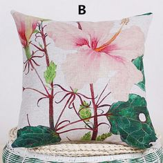 Flower pillow hand painted art couch cushions for home decoration