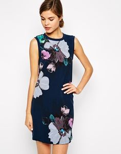 Warehouse Floral Sleeveless Shift Dress
