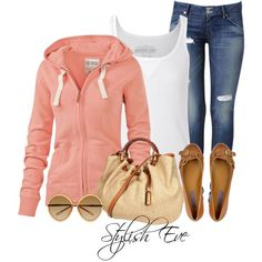 Casual Outfit. Maybe not the purse or the glasses but otherwise it's cute!!:)