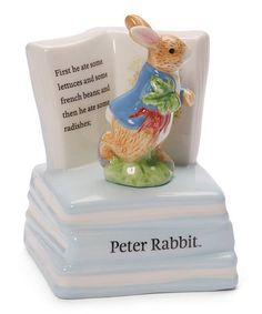 GUND Peter Rabbit Ceramic Musical Figurine by Peter Rabbit #zulily #zulilyfinds