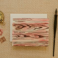 Antiquaria - Faux Bois Happy Birthday Greeting Card, $5.00 (http://www.shopantiquaria.com/faux-bois-happy-birthday-greeting-card/)