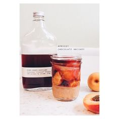 If you're into the idea of canning but honestly are too lazy to actually do it; #bachelorsjam is your well jam. Layers of fresh summer fruit & sugar in a jar then pour alcohol over it making sure all the fruit is submerged. Add fresh herbs or spices if you like. Close the lid store it in a cool dark place until the late fall/winter. Then open it up and enjoy a little bit of summer. #apricots #chocolatewhiskey  Get the recipe and more ideas: cupcakerehab.com by cupcakerehabdotcom