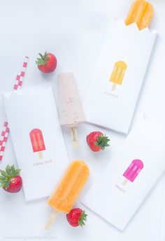 Free Popsicle Pouch Printables   Perfect for a Summertime Party   Download at Design Eat Repeat