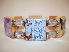 INSPIRATIONAL JEWELRY / SCRABBLE Bracelet / Unusual by pawsintime, $18.00