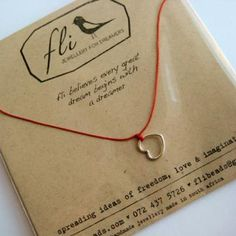 Heart Thread Necklace - We Heart This