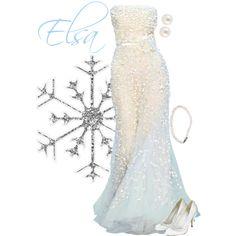 """Elsa"" formal gown by alyssa-eatinger on Polyvore - Frozen"