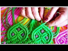 Trendy macrame flip purse with belt tutorial part 1 - YouTube