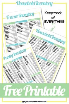 Household Inventory Tracker Free Printables Make Grocery Shopping So Much Easier Know What You