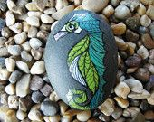 Sea Horse Zentangled Painted Rock Art