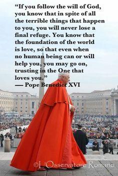 #popes #RomanCatholic #religion #Christianity #PopeBenedictXVI #man #men #males #people #priests #God'sWill #quotations #quotes #God'sLove