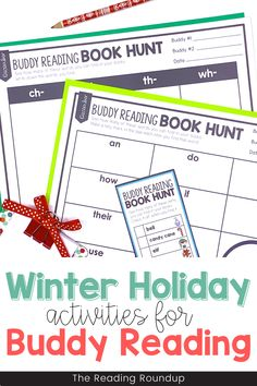 Is your Daily 5 Buddy Reading Center as effective as you'd like for it to be? These Christmas and holiday themed digital and printable reading buddies bookmarks are guaranteed to lead to more student engagement. Elementary students can with these bookmarks and graphic organizers for identifying the problem and solution while reading. Reading response sheets are also available for additional accountability during literacy centers. A must-have for your reading workshop! Fun Winter Activities, Reading Activities, Literacy Activities, Literacy Centers, Partner Reading, Reading Response, Student Reading, Reading Centers, Reading Workshop