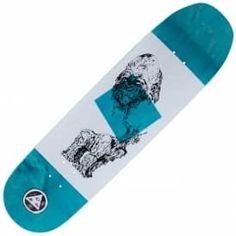 Welcome Skateboards Wax Gorilla On Baculus Blue Stain Skateboard Deck 8.75""