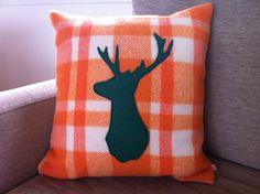 Retro Recycled Woollen Blanket Cushions