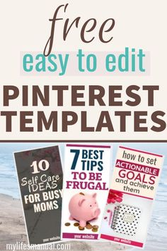 How to Make Pinterest Pins Quickly - Free Pinterest Templates In Canva - Mylifesmanual