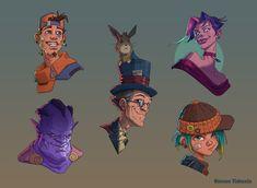 ArtStation - Cartoon faces, Roman Tishenin