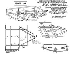 These free utility trailer plans include a regular 8 foot