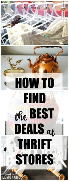 a pro thrift store shopper spills her secrets on scoring the best deals on home decor and clothing at thrift stores!